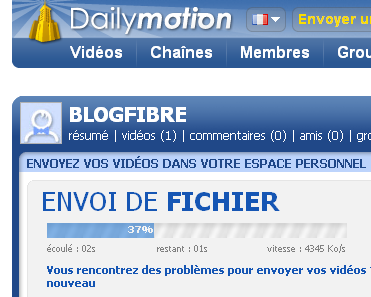 Upload sur Dailymotion depuis une Freebox Optique